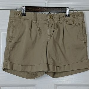 American Eagle Outfitters Shorts - American Eagle Pleated Cuffed Chino Shorts